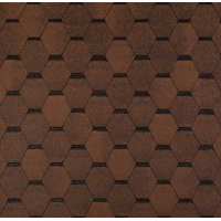 Битумная черепица ECOROOF Hexagonal Brown