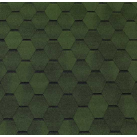 Битумная черепица ECOROOF Hexagonal Green