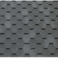 Битумная черепица ECOROOF Hexagonal Grey